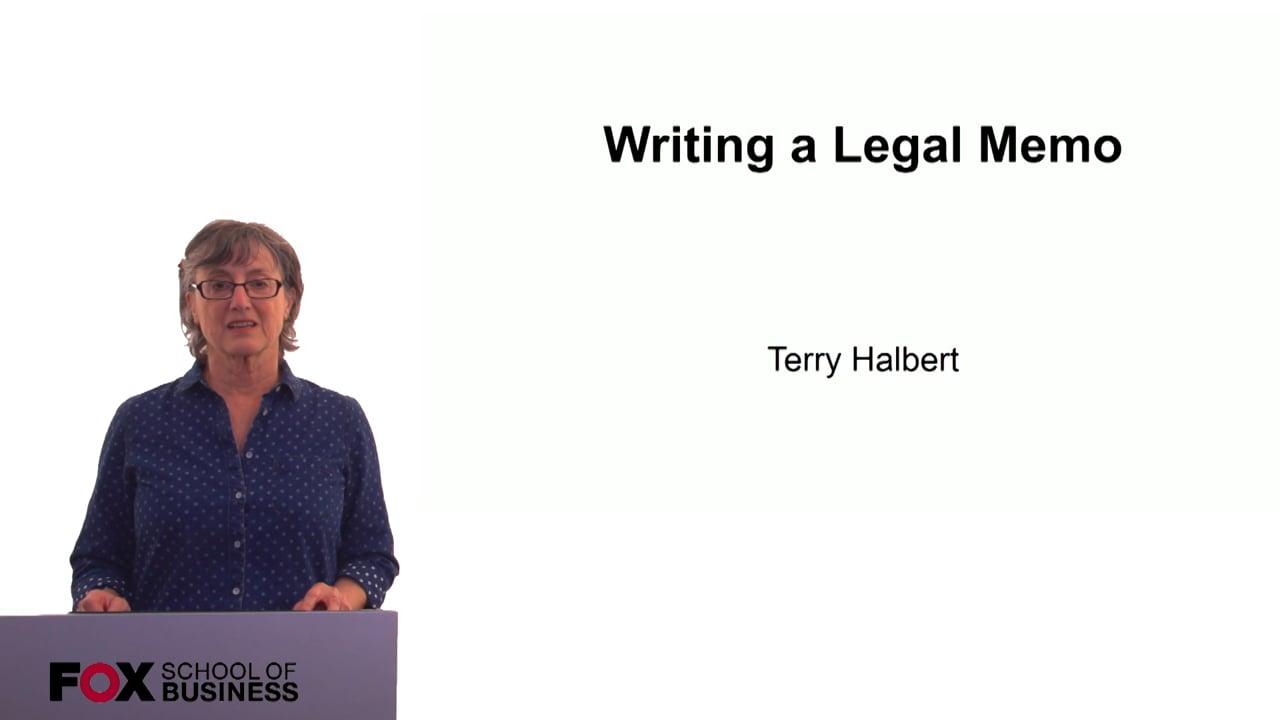 60308Writing A Legal Memo
