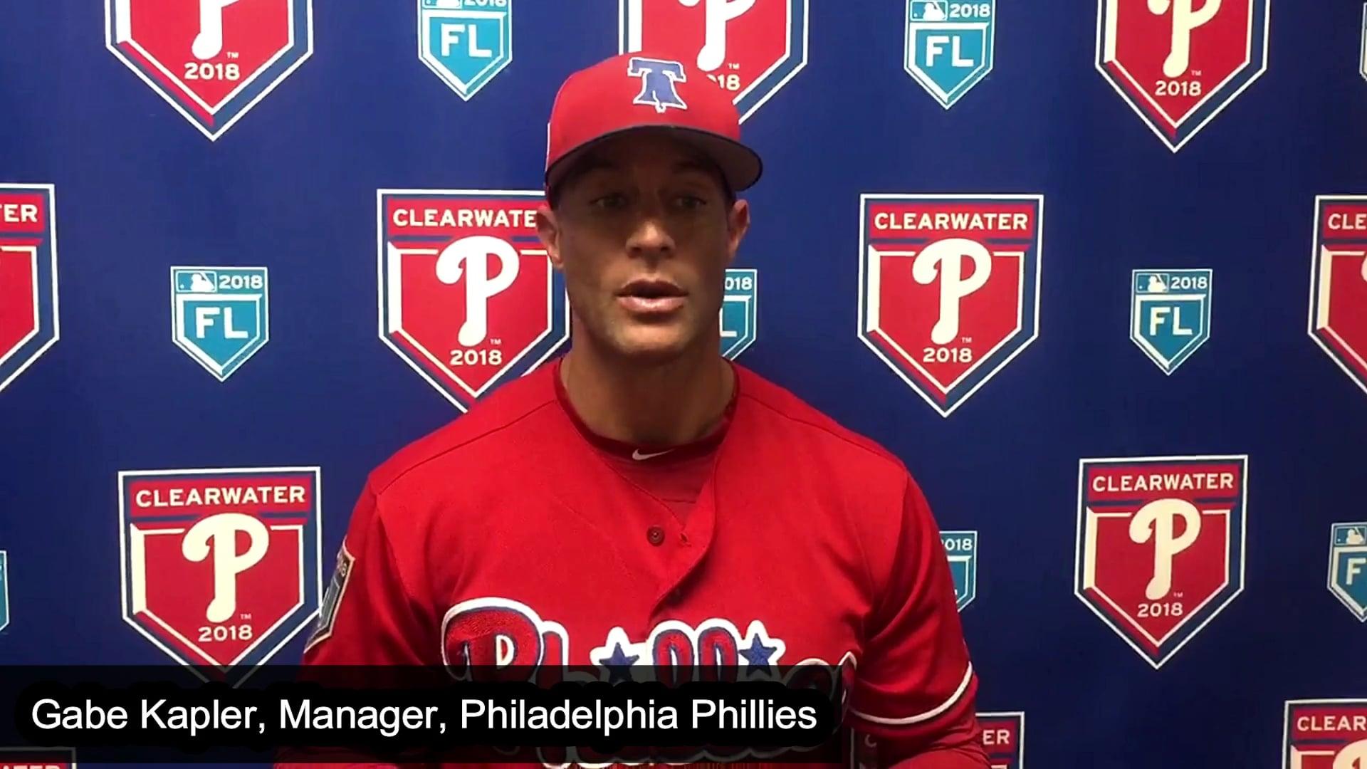 Phillies Manager Sends Tug McGraw's Team a Heartfelt Message to Tug McGraw's Softball Team