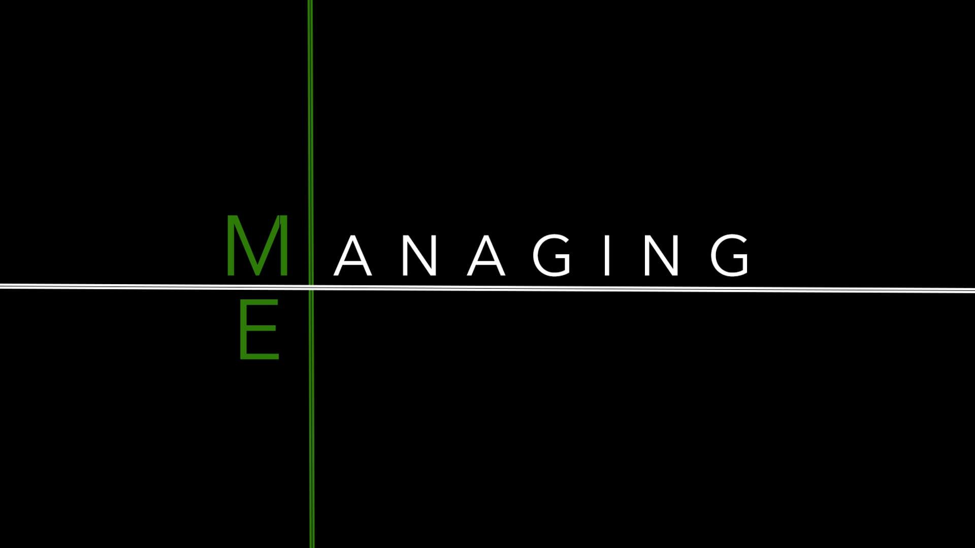Managing Me Part 3- Pastor Fred McCarthy