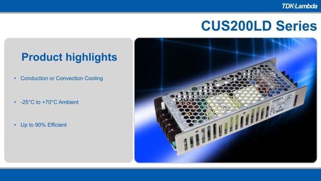 CUS200LD Single Output 200W Convection/Conduction Power Supply Video