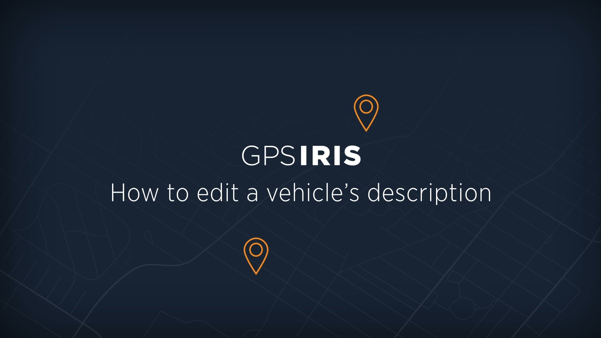 How to edit vehicle information
