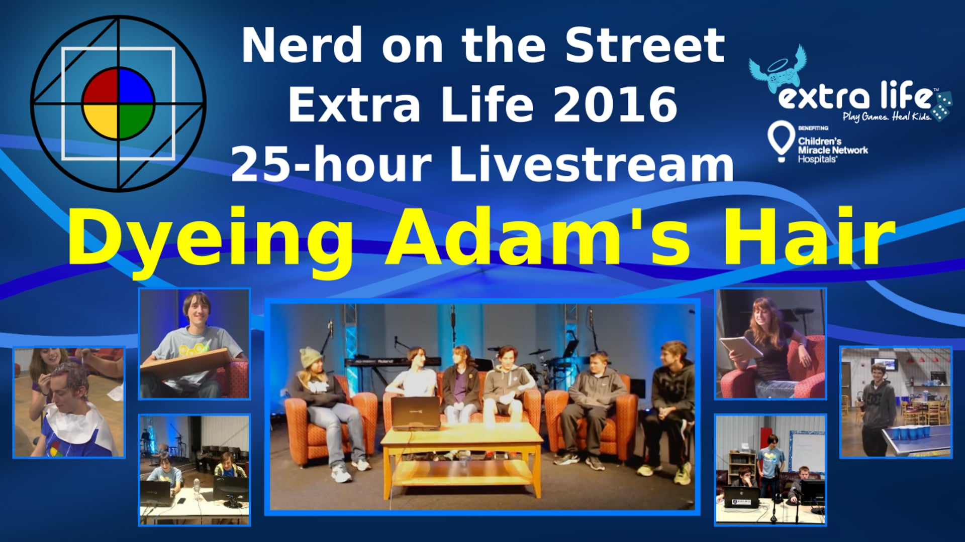 Dyeing Adam's Hair - Extra Life 2016