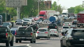 417 Epic out of control Baton Rouge traffic stock footage video