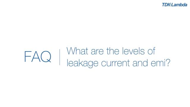 What are the levels of leakage current and emi for cus150m medical power supplies?