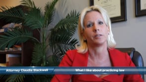 Claudia Blackwell - the practice of law