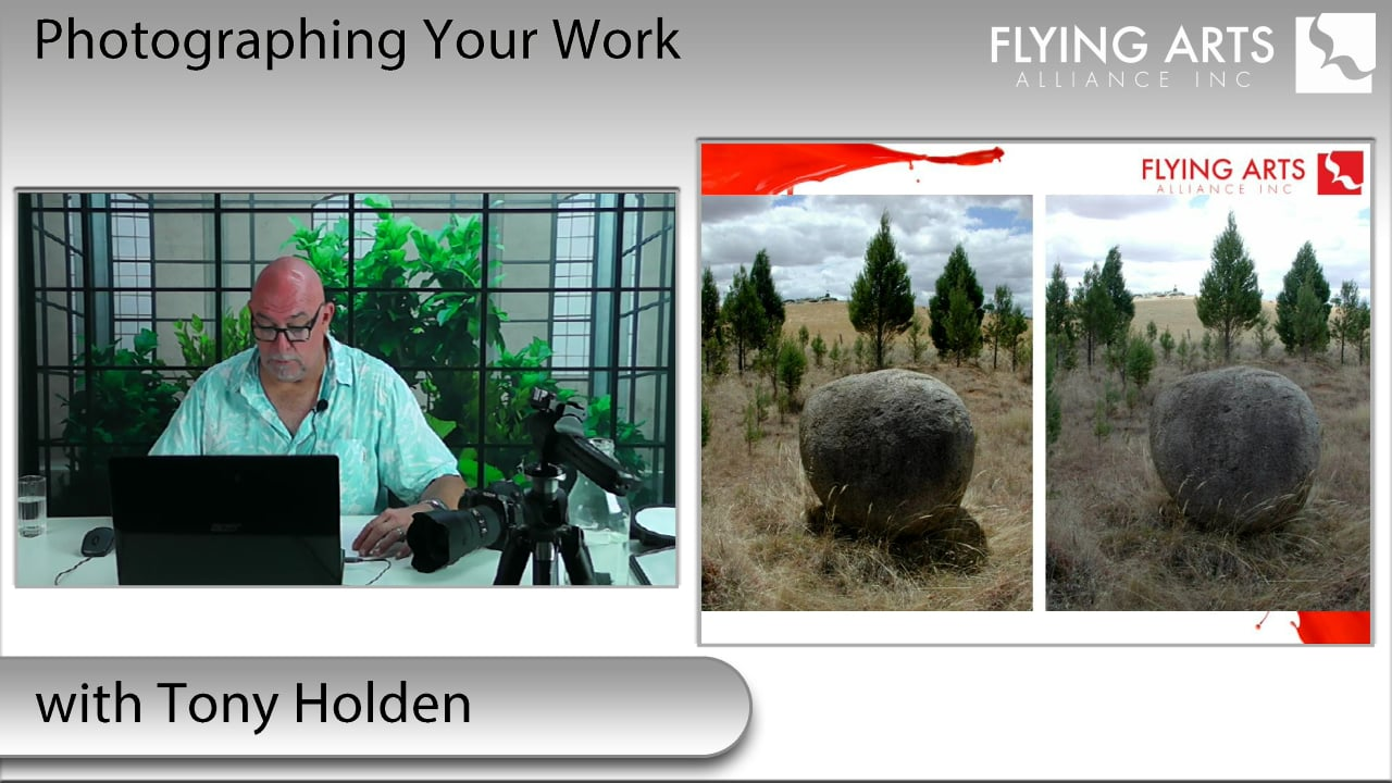 Photograph your work with Tony Holden