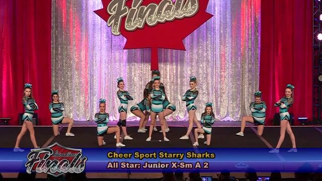 Cheer Sport Starry Sharks Junior X-Sm A 2 - Canadian Finals