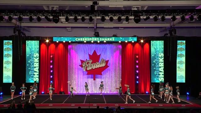 Cheer Sport Blue Sharks Senior Small 4 - Canadian Finals