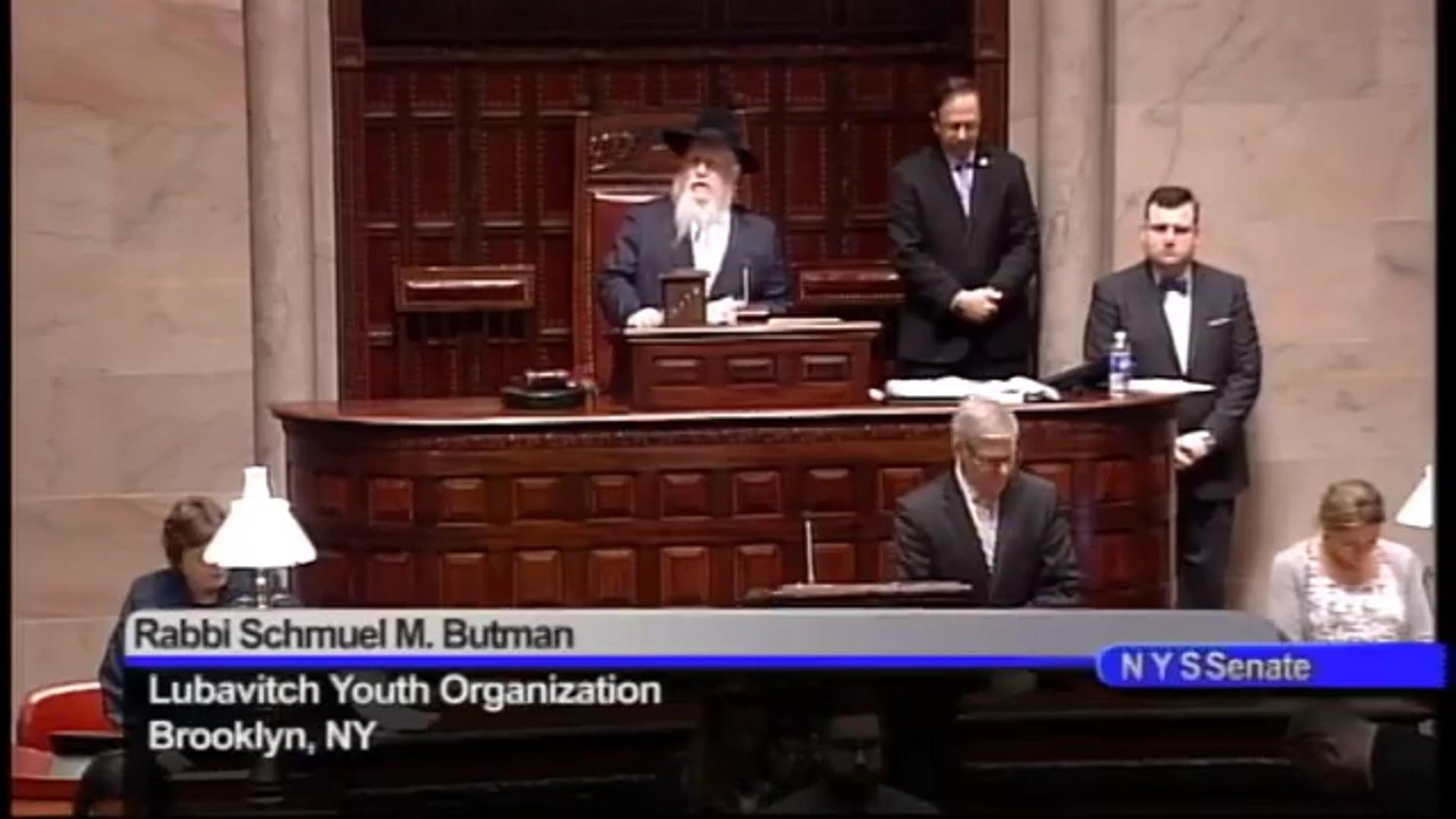 April 3, 2017 - NYS Senate Invocation by Rabbi Schmuel M. Butman