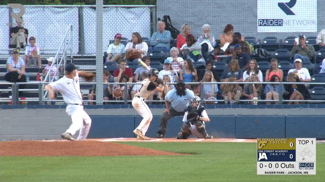 Varsity Baseball-2018-Apr-12-Oak Forest Academy (DH Game 2)