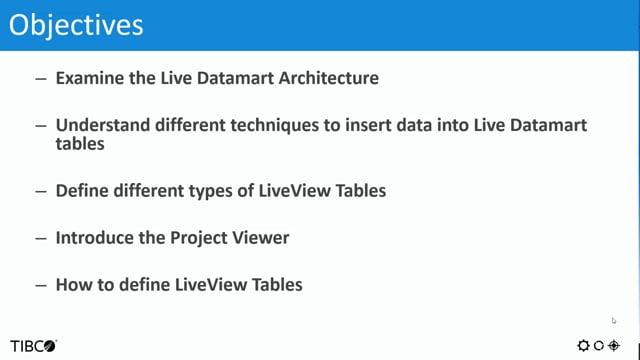 TIBCO Streaming Analytics: Building LiveView Applications in 10.2.x