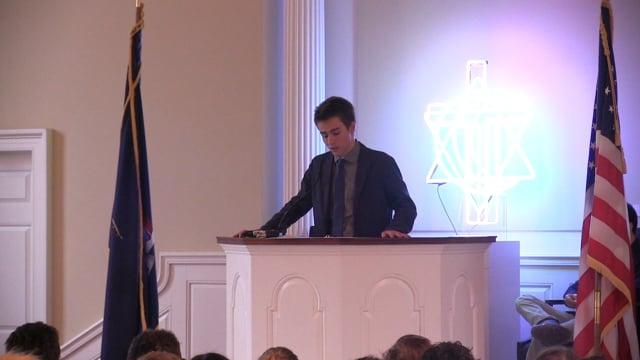 Millbrook School Chapel Talk - Jacob Maren '18