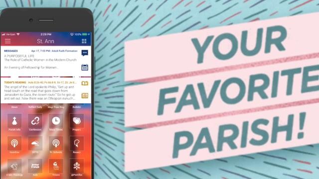 Parish Favoriting with myParish App