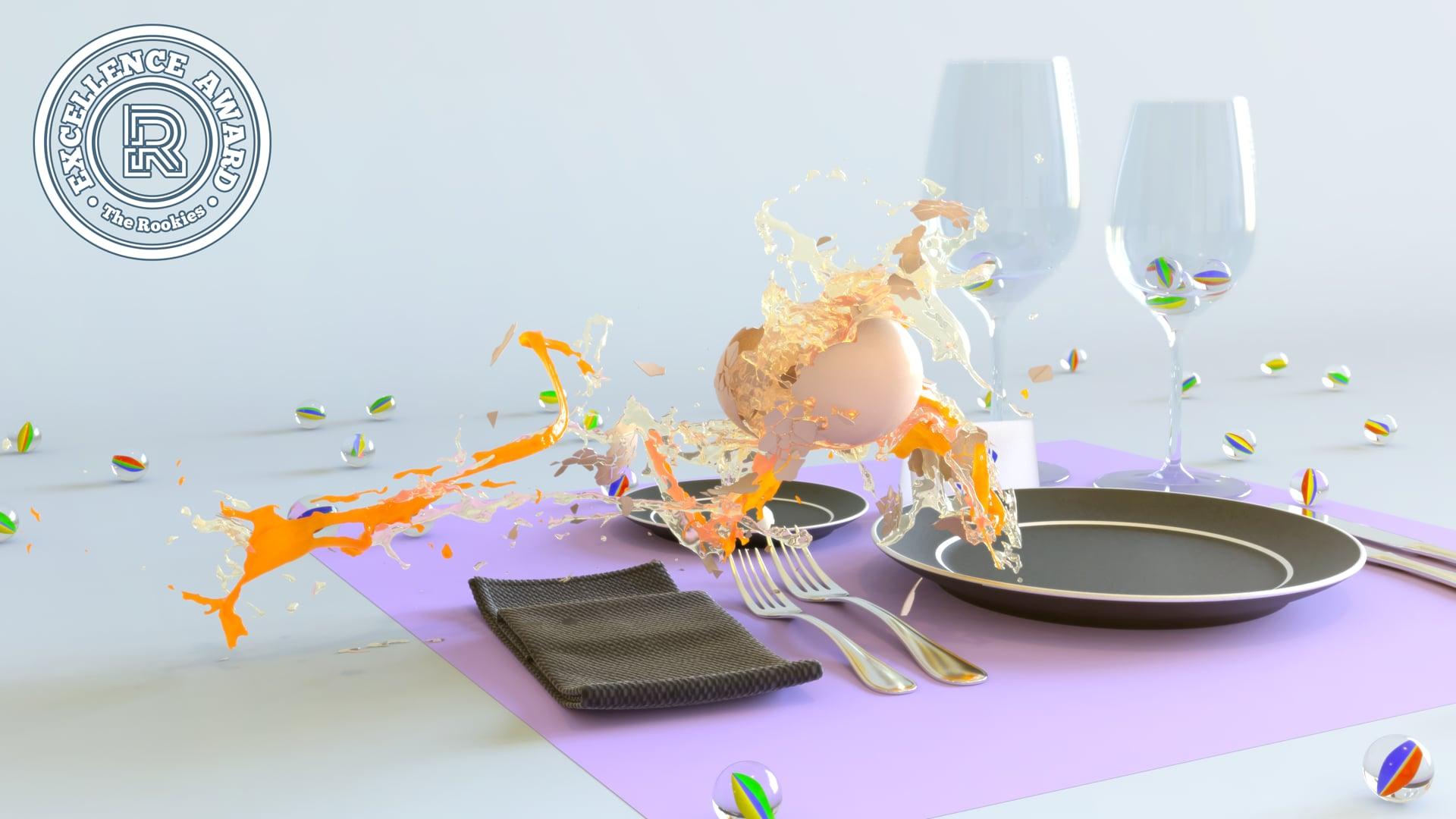 Eggsplosion (Houdini flip + destruction)