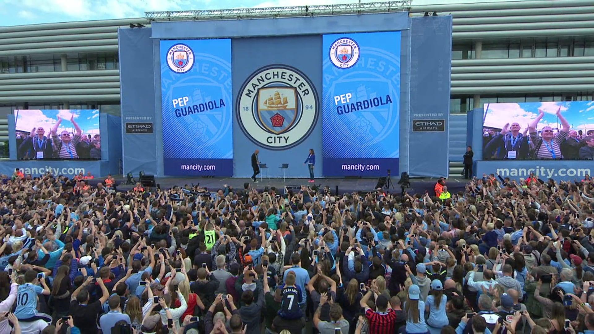 Manchester City FC Pep Guardiola Reveal