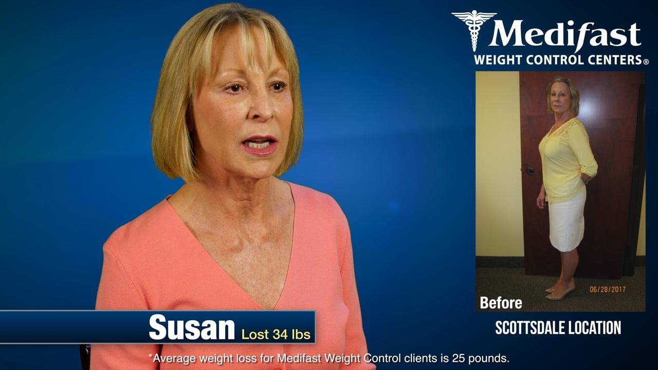 Susan Lost 34 lbs at Medifast Arizona