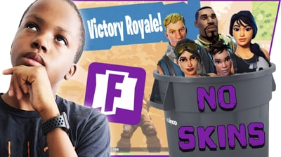 CAN I TAKE A TEAM OF NO SKINS TO A VICTORY! - FortNite Battle Royale