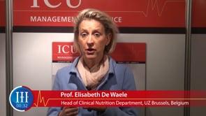 What is the evolution in clinical nutrition? Prof. Elisabeth De Waele, UZ Brussels