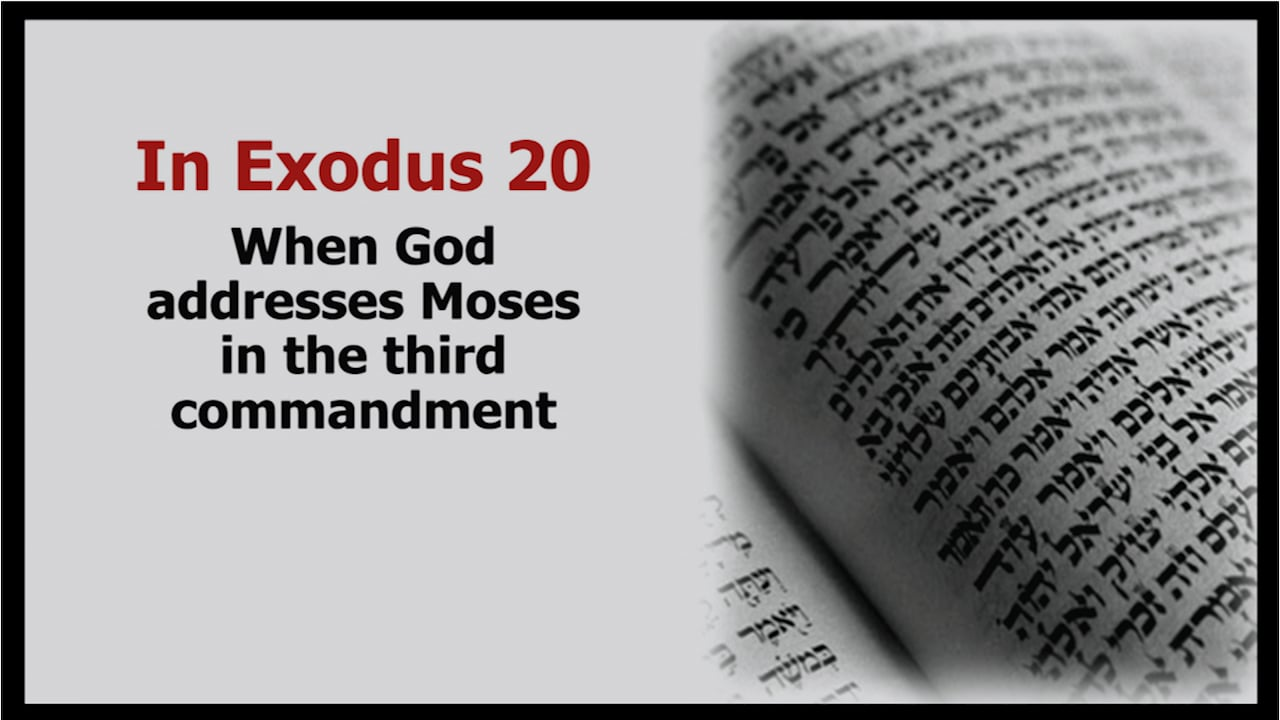 3rd Commandment: Using God's Name