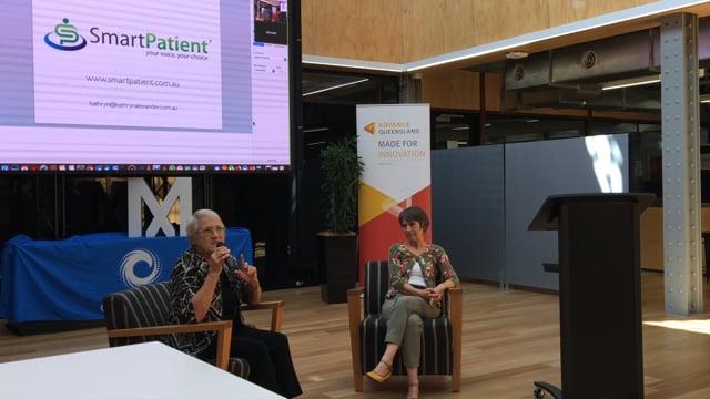 Retired Deputy Speaker & Member of Parliament Desley Scott - pre Myriad Festival Blockchain event