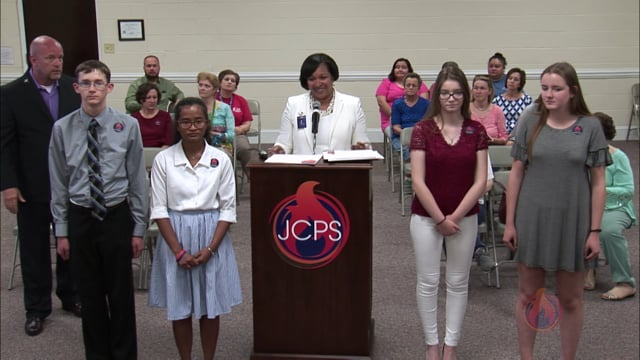 May 2018 BOE - Recognitions