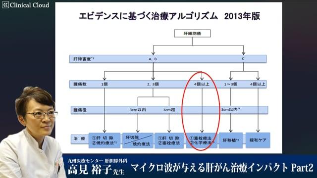 高見 裕子先生:マイクロ波が与える肝がん治療インパクト Part2