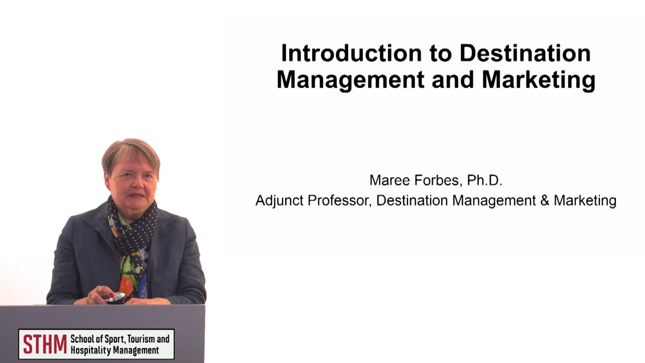 60622Introduction to Destination Management and Marketing