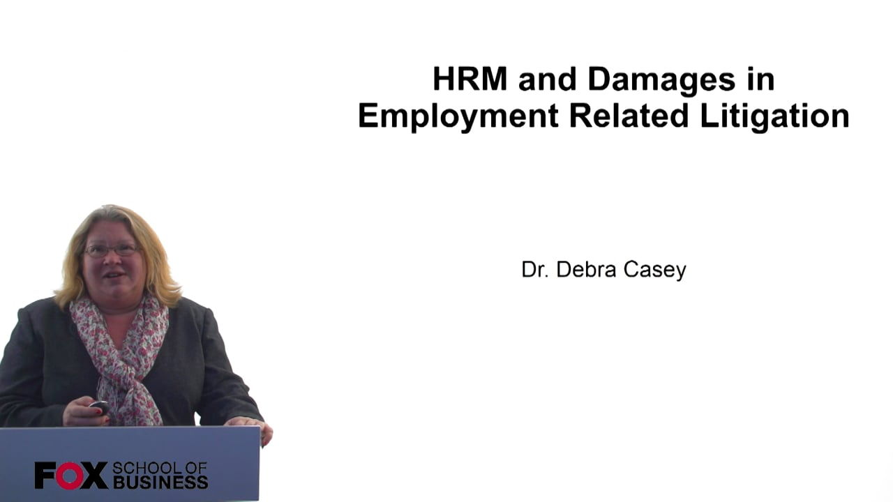 60696HRM and Damages in Employment Related Litigation