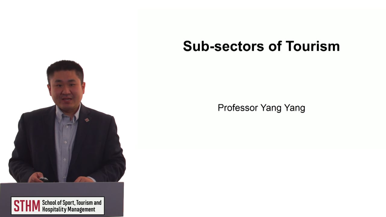 60512SubSectors of Tourism