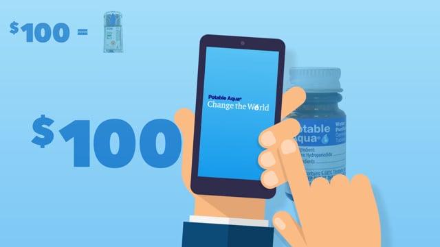 Potable Aqua Water Purification | Change The World Campaign, Wisconsin Pharmacal Company