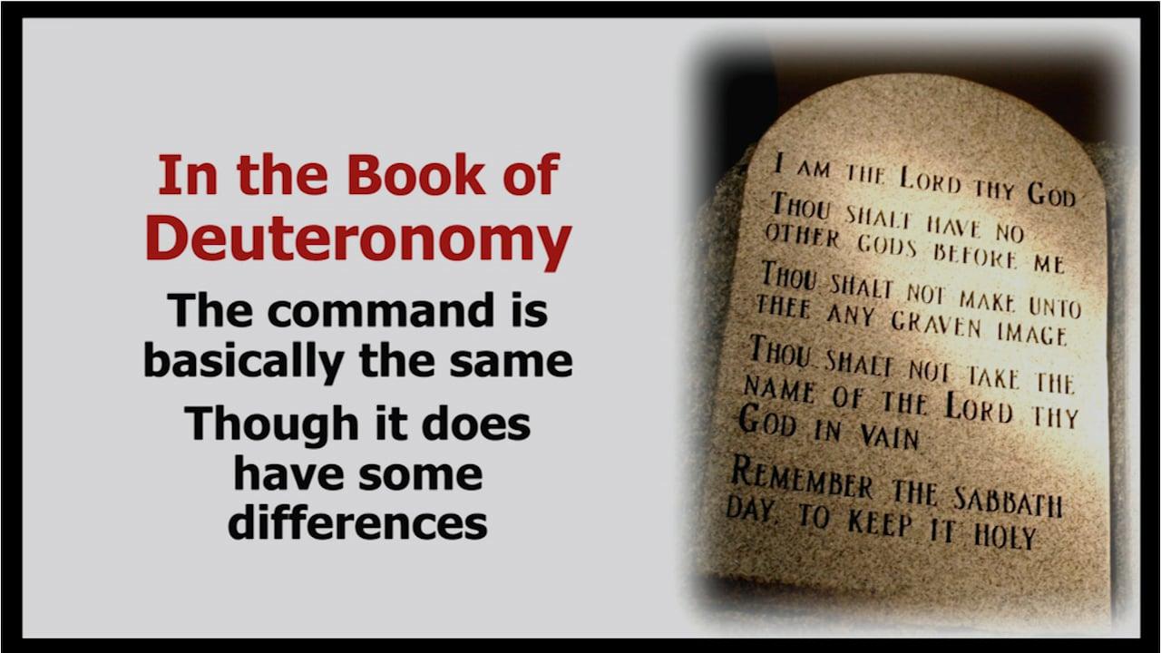 4th Commandment: The Sabbath
