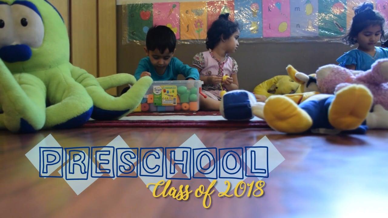 AIS PreSchool Class of 2018-Montage