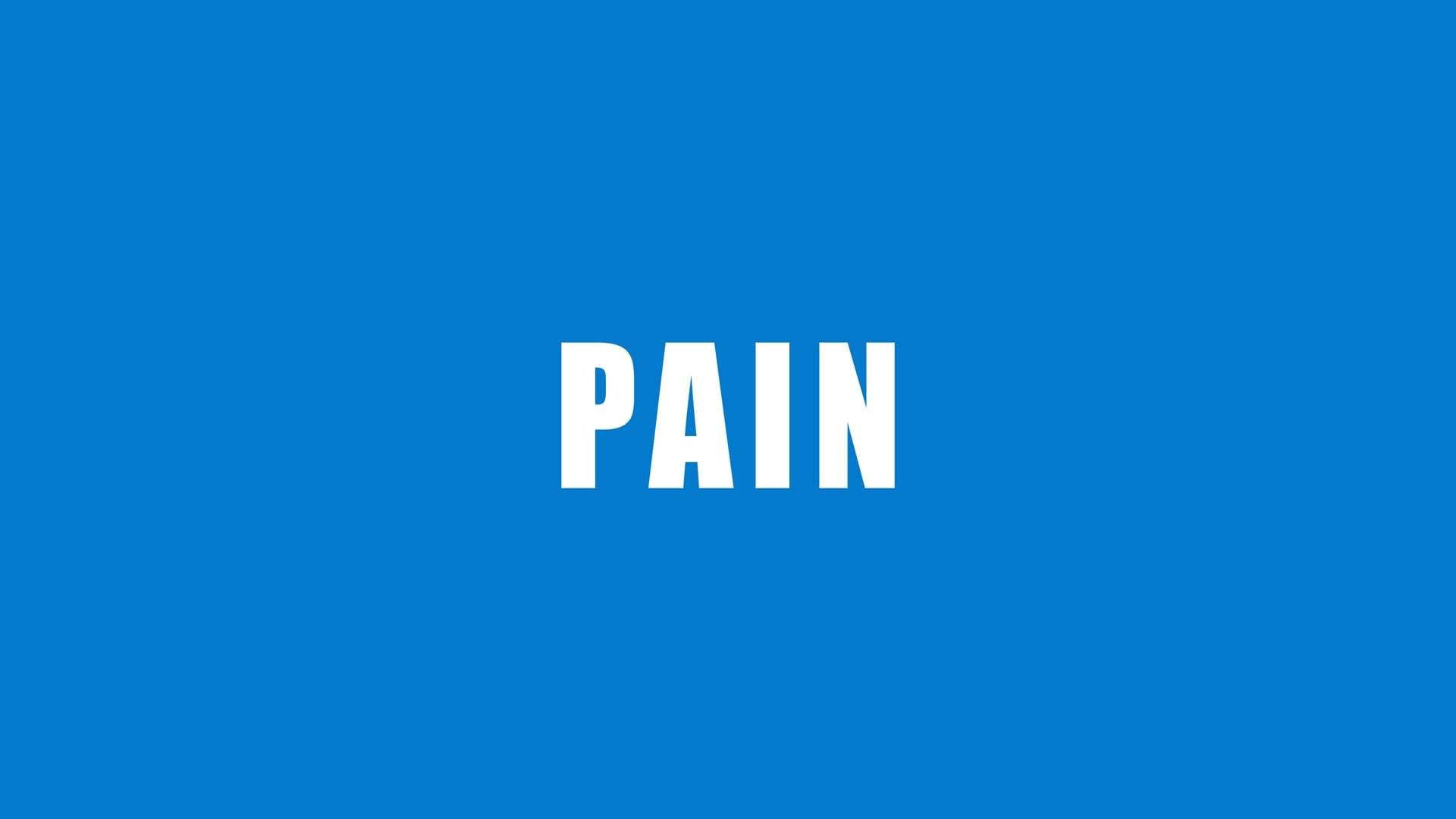 My Pain, Your Fault