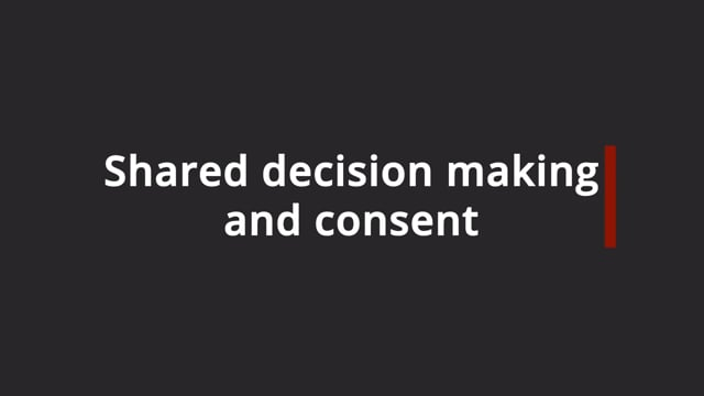 Transfusion consent for adults: Shared decision making and consent