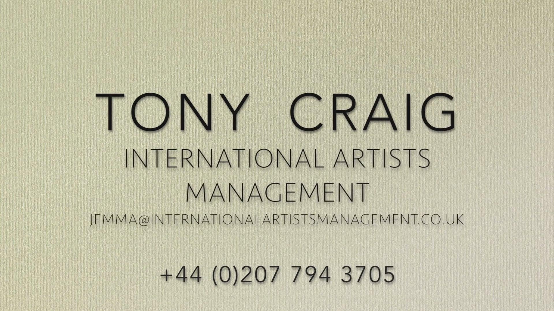 Tony Craig Presenting Reel  2018