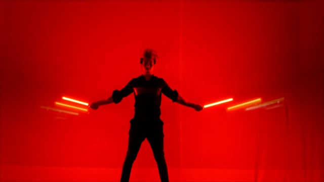 Lightpainting with LED Visual Poi