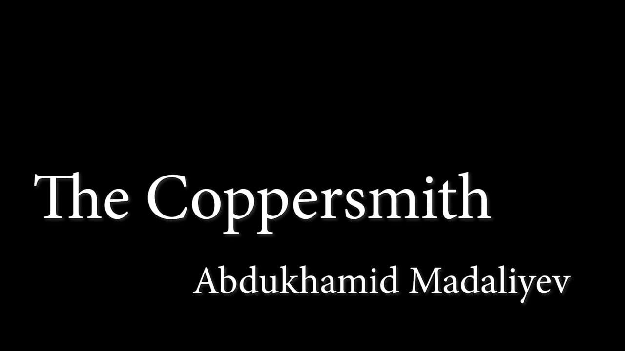 CGTN - MARGILAN, UZBEKISTAN - JUNE 2018 - THE COPPERSMITH
