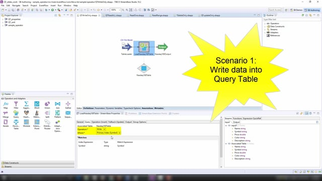 The Query Table and Query Operator,  part 3 of 3