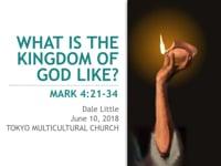 Mark 4:21-34. What is the Kingdom of God Like? Jun 2018.
