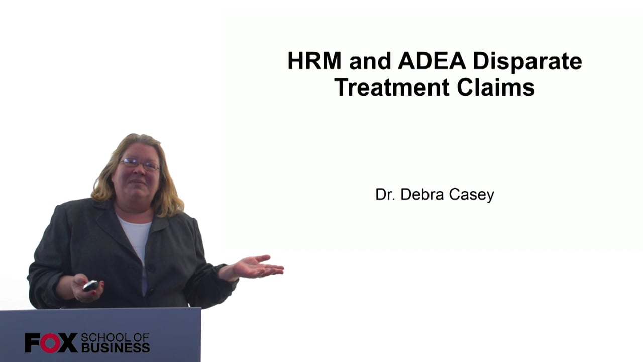 60690HRM and ADEA Disparate Treatment Claims