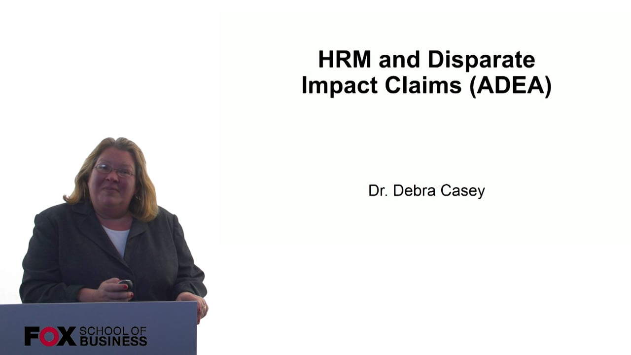 60697HRM and Disparate Impact Claims (ADEA)