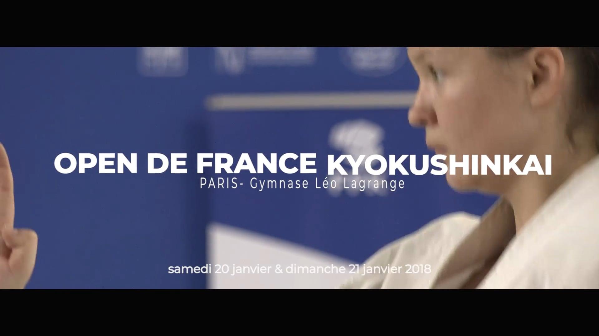 FFKARATE - Kyokushinkai - Open Paris - janv 2018 _montage V2