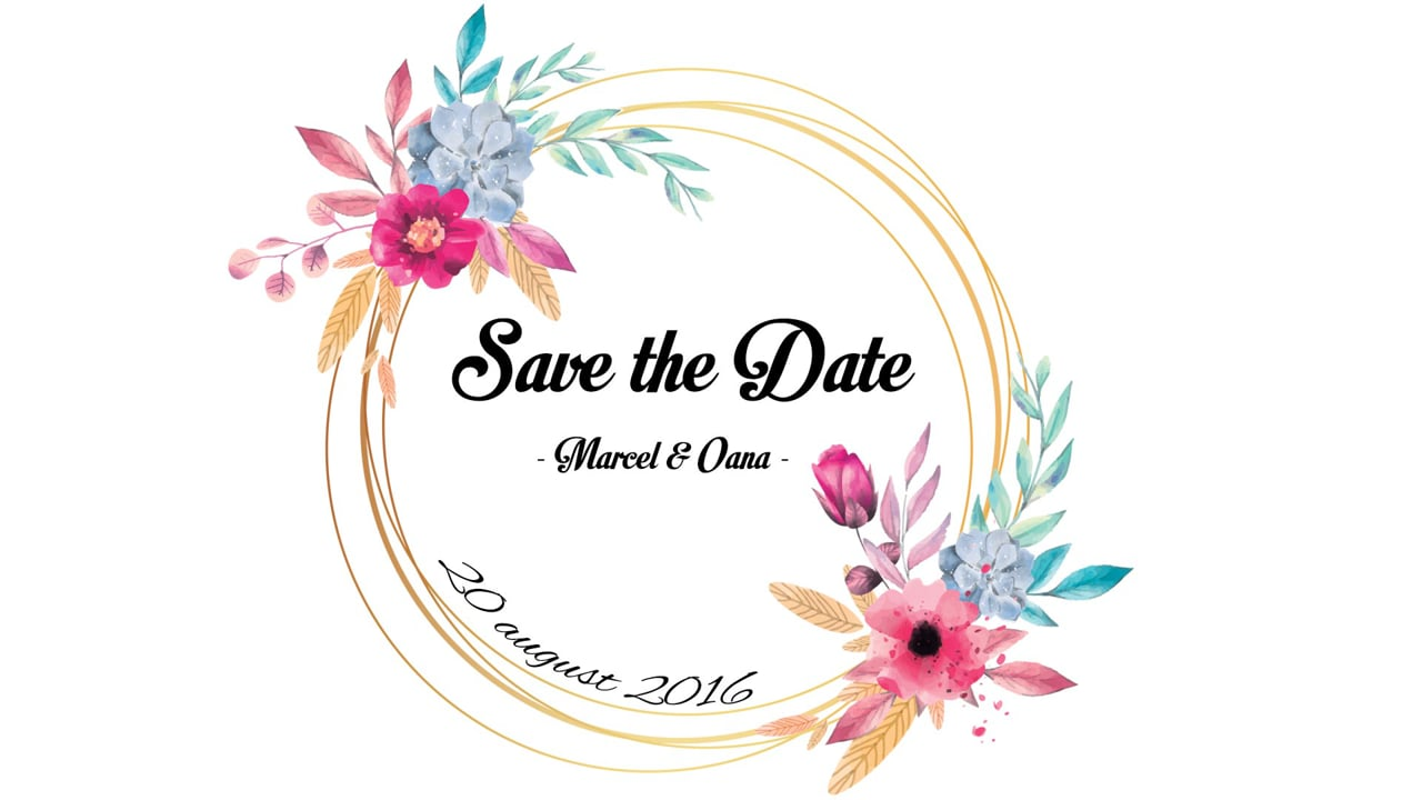 Save the Date - Marcel & Oana | @ www.tvstudio.ro |
