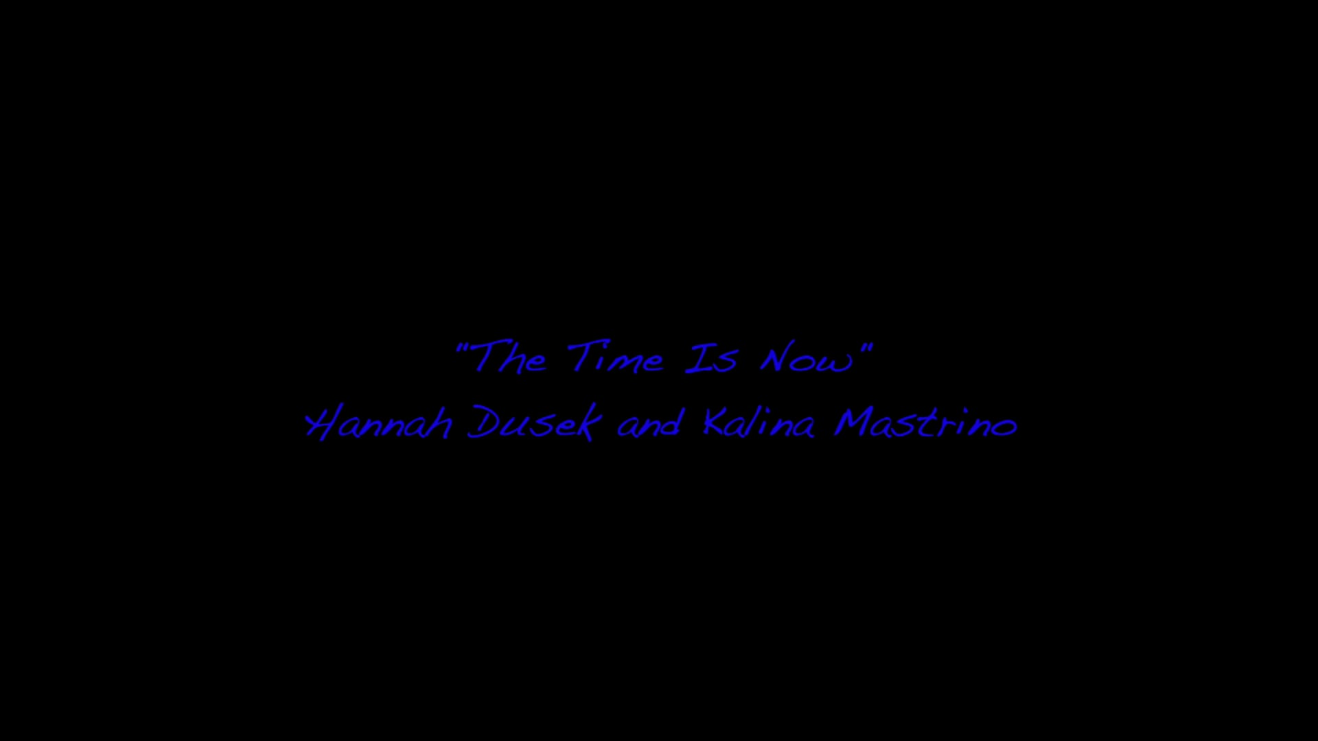 The Time Is Now Duet Ver.2