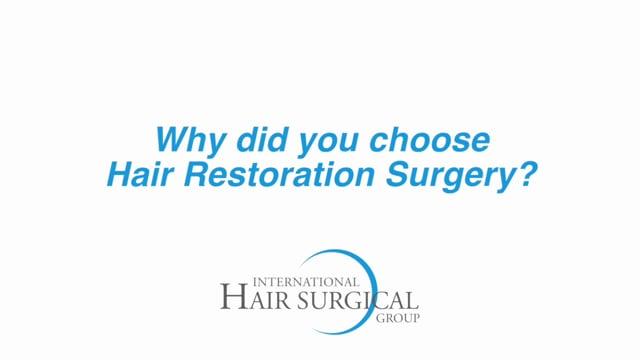 Hair Transplant Patient Testimonial - New Jersey