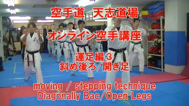 moving/stepping technique3 Diagonally Back/Open Legs