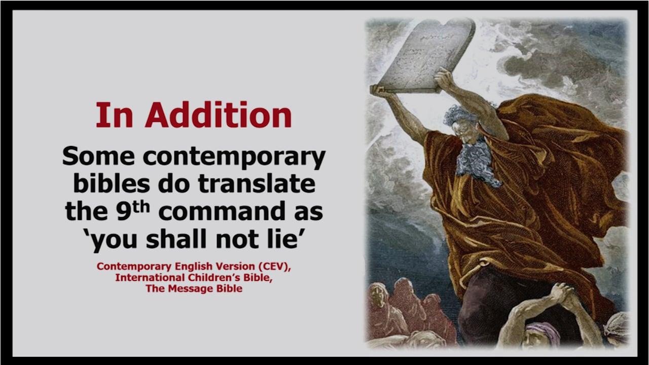 9th Commandment: False Witness
