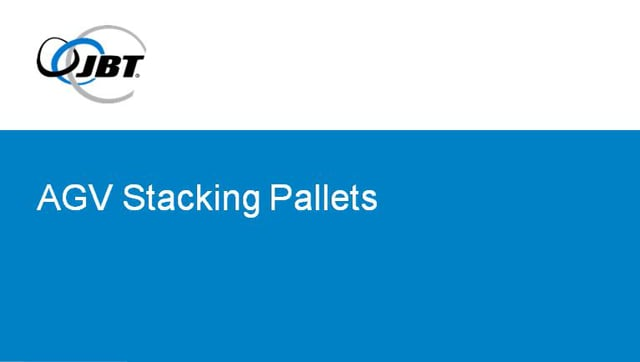 Automatic Guided Vehicle (AGV) Stacking Pallets