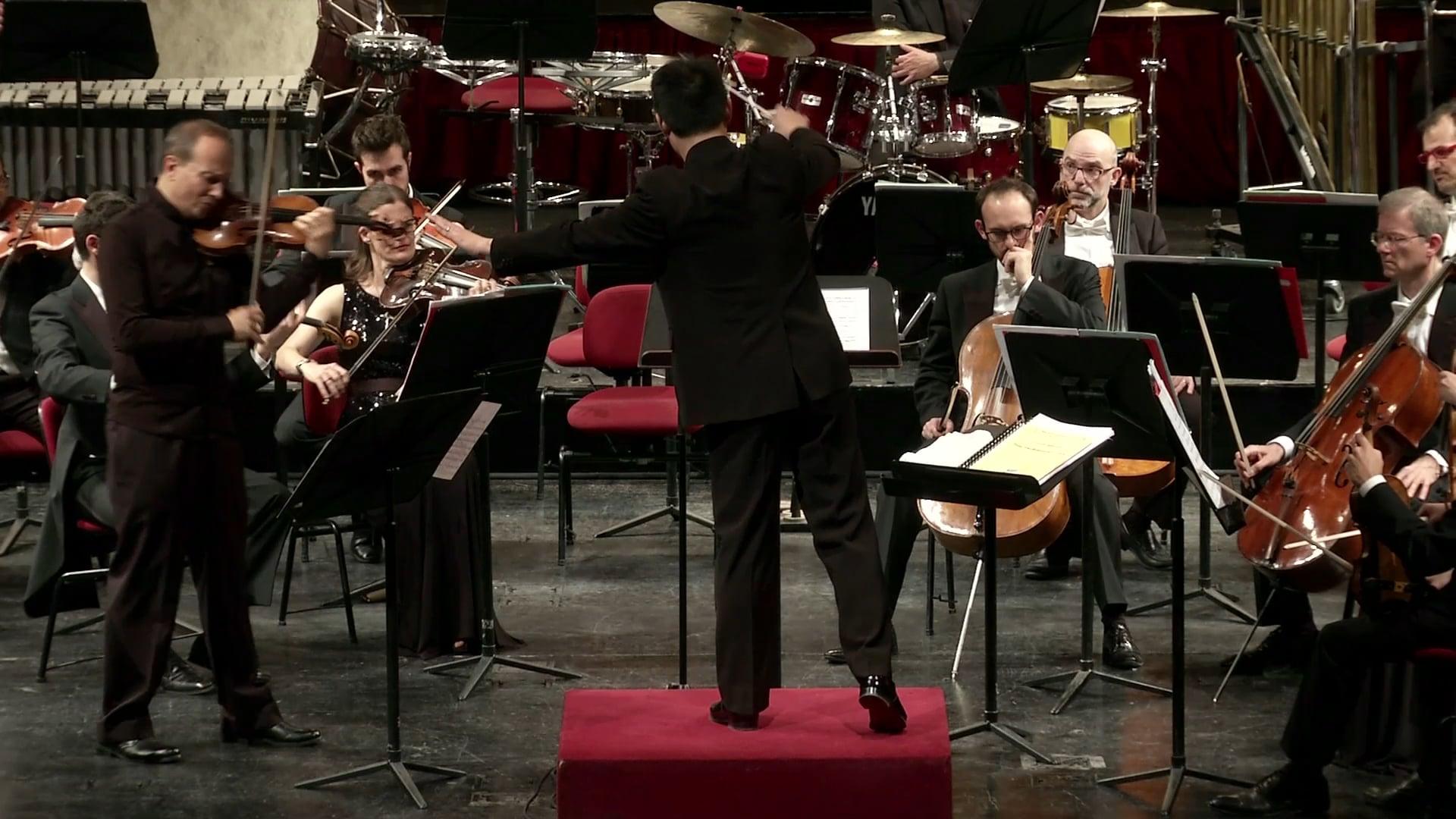 "Bernstein Serenade after Plato's ""Symposium"" (1st, 4th, 5th mvts), F. Manara, violin, Cameristi della Scala, Wilson Hermanto, co"