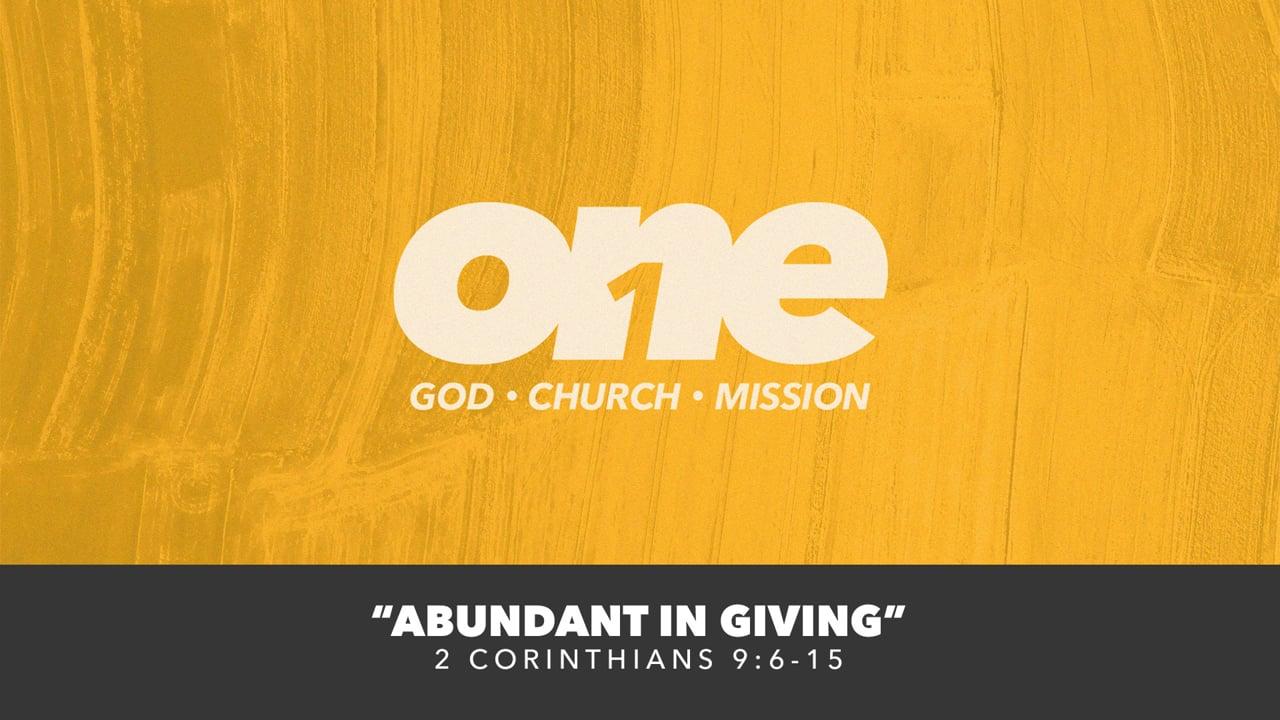 Abundant In Giving